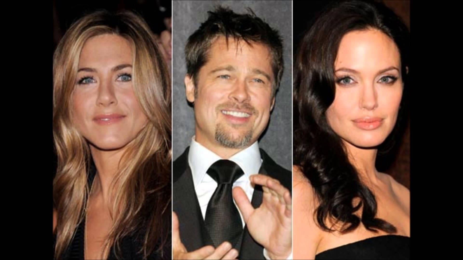 Brad Pitt, anjelina jlie and Jenifer Aniston