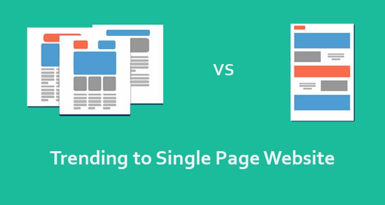 single page websites trending