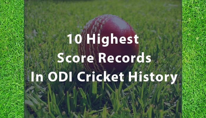 cricket odi score records