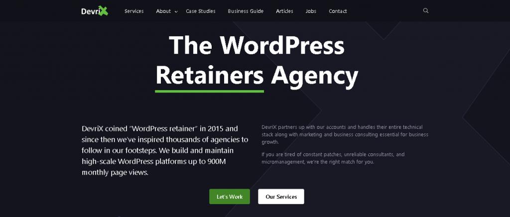 devrix - WordPress development agencies