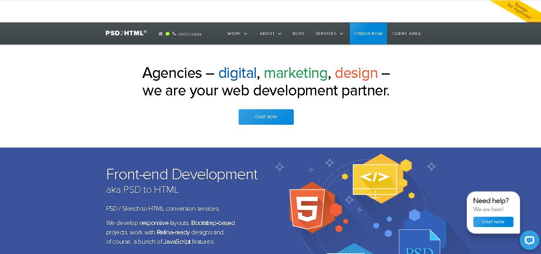 psd 2 html - Drupal Digital Agencies