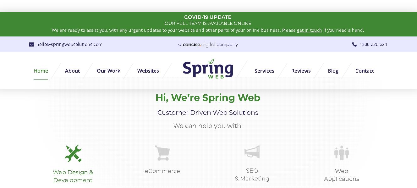 spring web solution